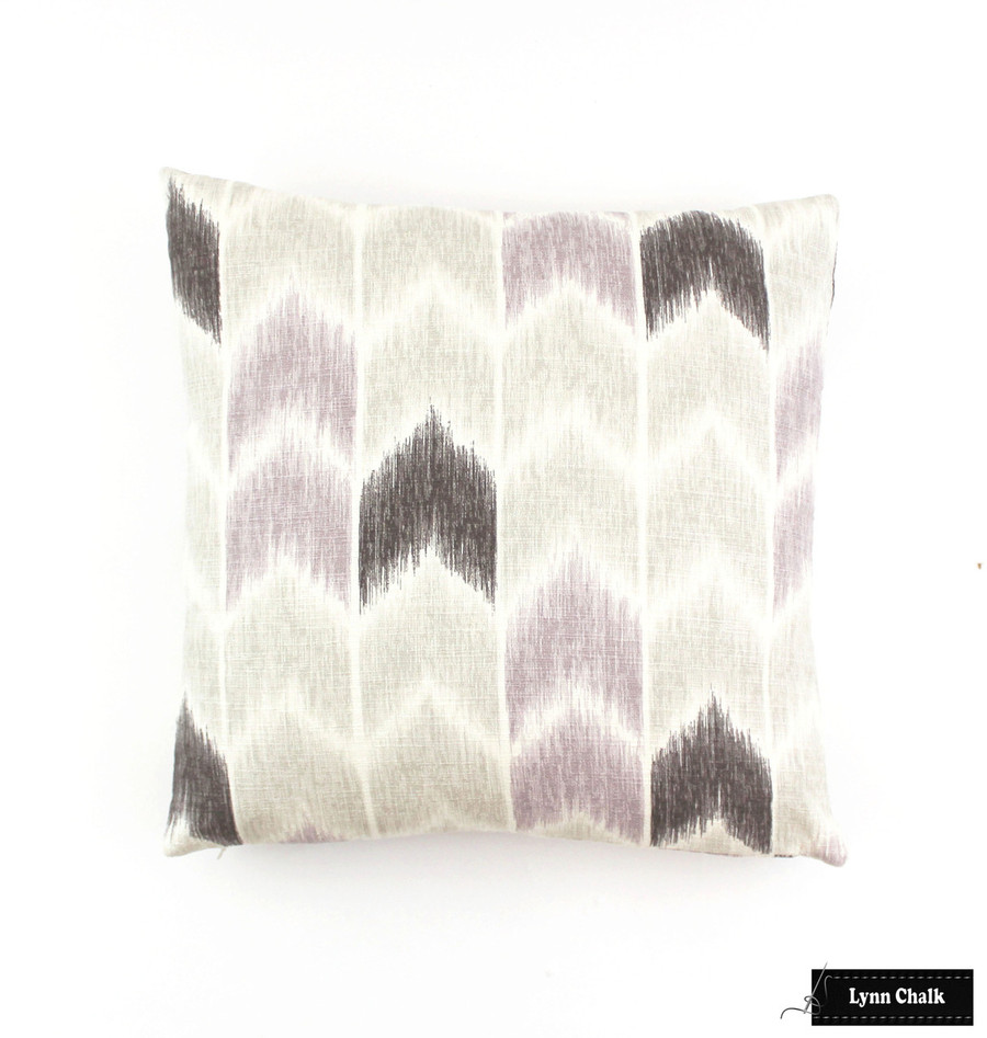 ON SALE Fabricut Nojo Pillows in Lavender (Both Sides 18 X 18) 2 Pillows Remaining Made To Order. Nojo Lavender has been discontinued.