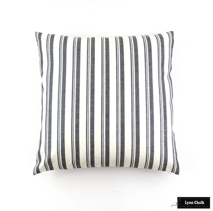 Miles Redd for Schumacher Capri Pillows in Black/White  (Comes in 6 colors) 2 Pillow Minimum Order