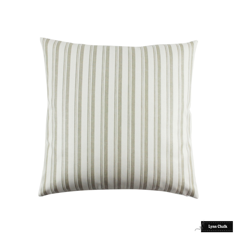 Capri Stripe Pillows in Greige