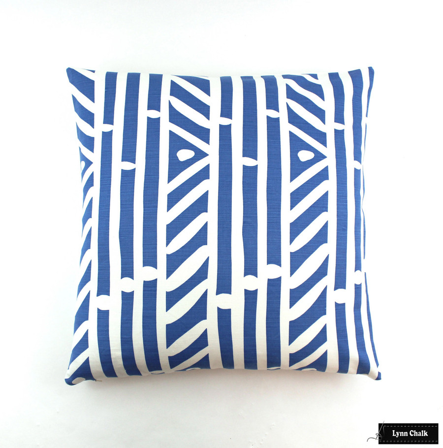 Quadrille Alan Campbell Candu Custom Pillows  (Shown in French Blue on White-comes in other Colors)