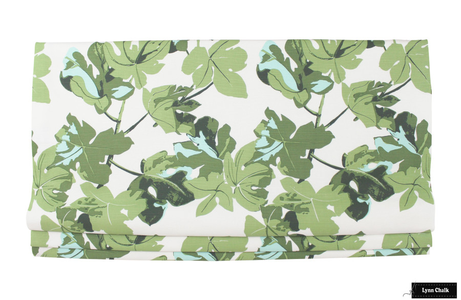 Roman Shade in Fig Leaf on White