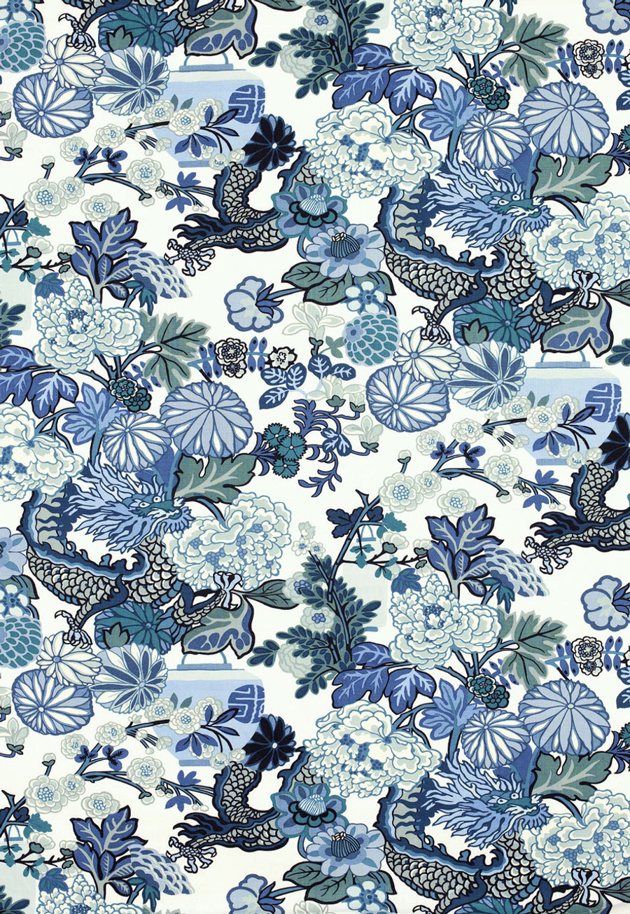 Schumacher Chiang Mai Dragon in China Blue