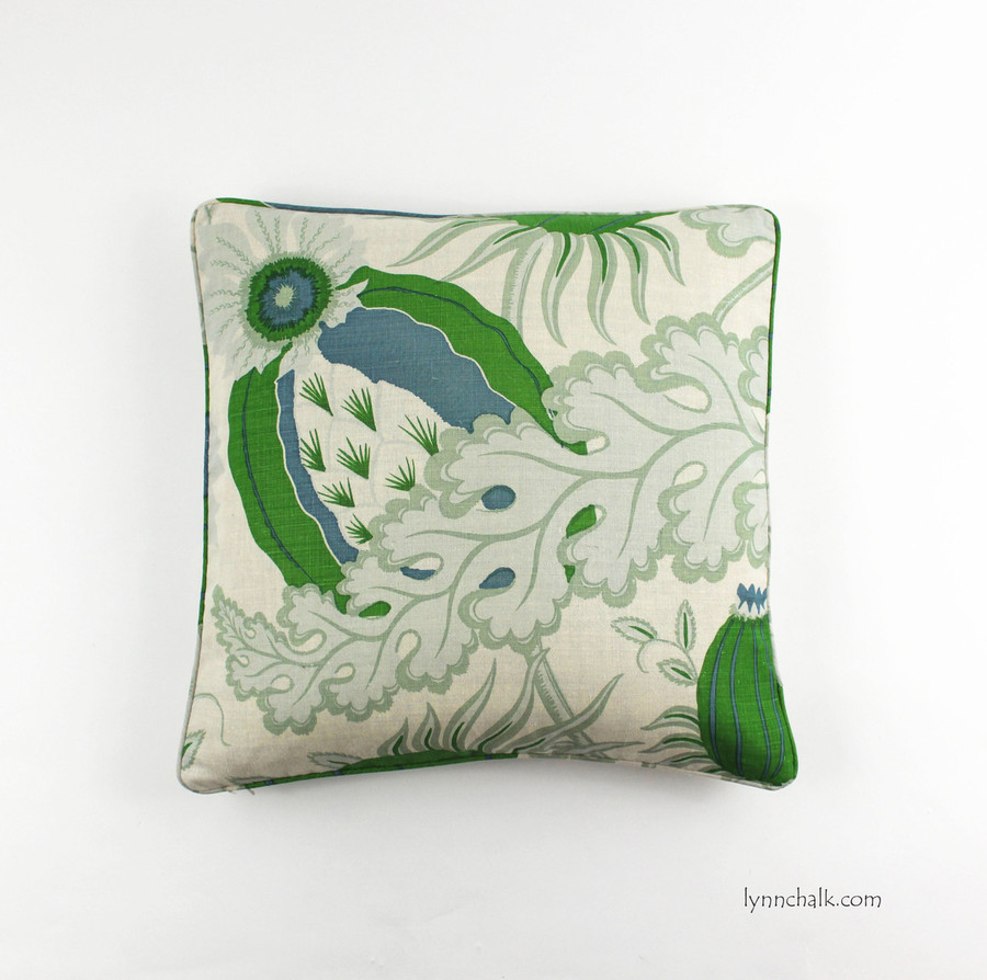 20 X 20 Pillows in Self Welting in Carnival Green