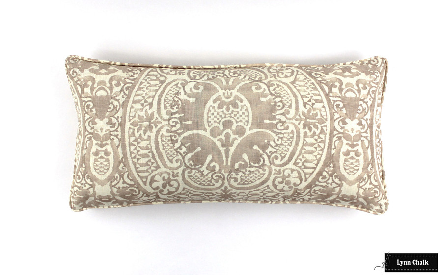 Veneto Pumice Pillow 12 X 24 with self welting
