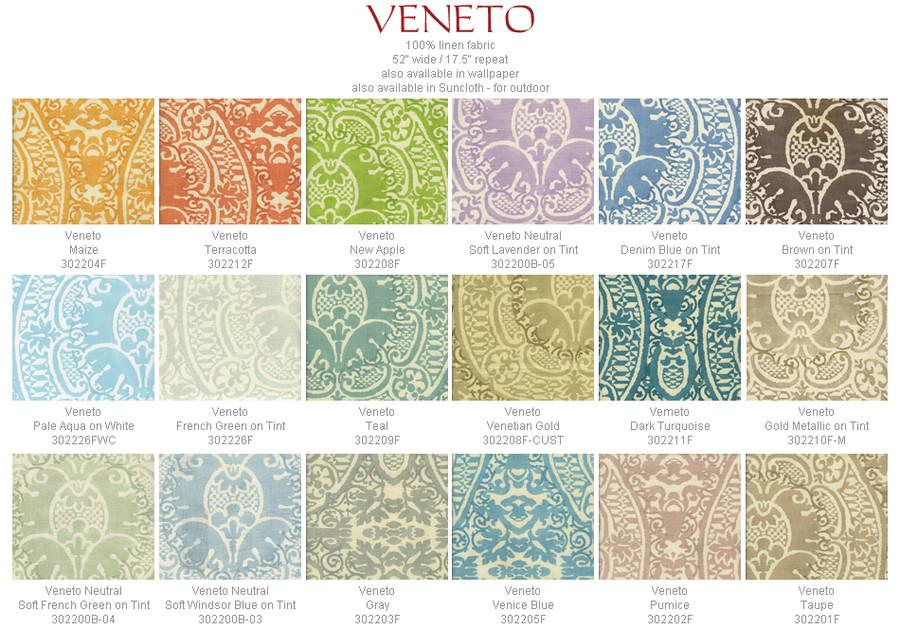 Quadrille Veneto Custom Drapes (shown in Pumice-Comes in 18 Colors.)