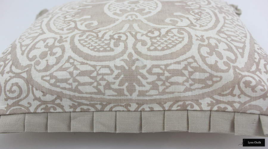 Quadrille Veneto Pillows with welting (shown in Pumice-Comes in 18 Colors) 2 Pillow Minimum Order
