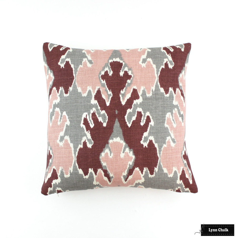 ON SALE 50% Off - Kelly Wearstler Bengal Bazaar in Graphite Rose Pillow (One Sided-18 X 18) This color is discontinued