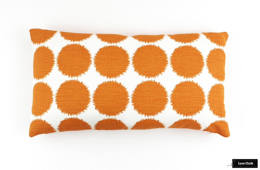 Schumacher Fuzz Pillow in Orange (12 X 22)