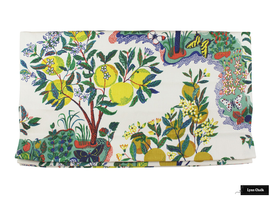 Schumacher Citrus Garden Linen in Primary 175760 - 2 Yard Minimum Order