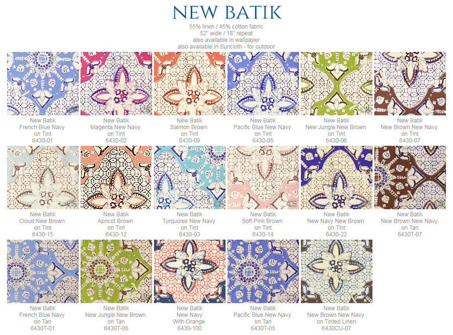Quadrille New Batik New Brown New Navy Pillows (comes in 15 colors) Contact me to order.