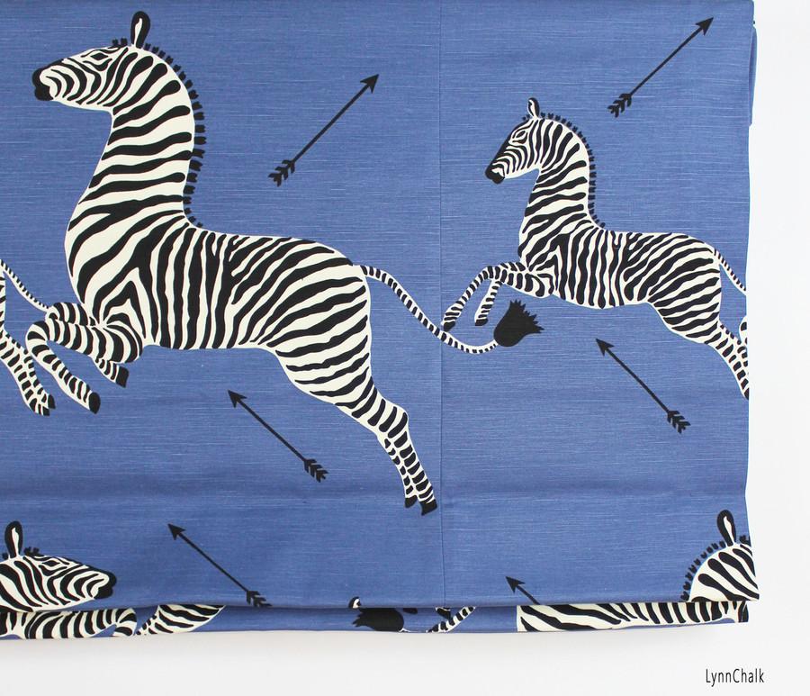 Scalamandre Zebras Roman Shades (Shown in Safari Brown-comes in several colors)