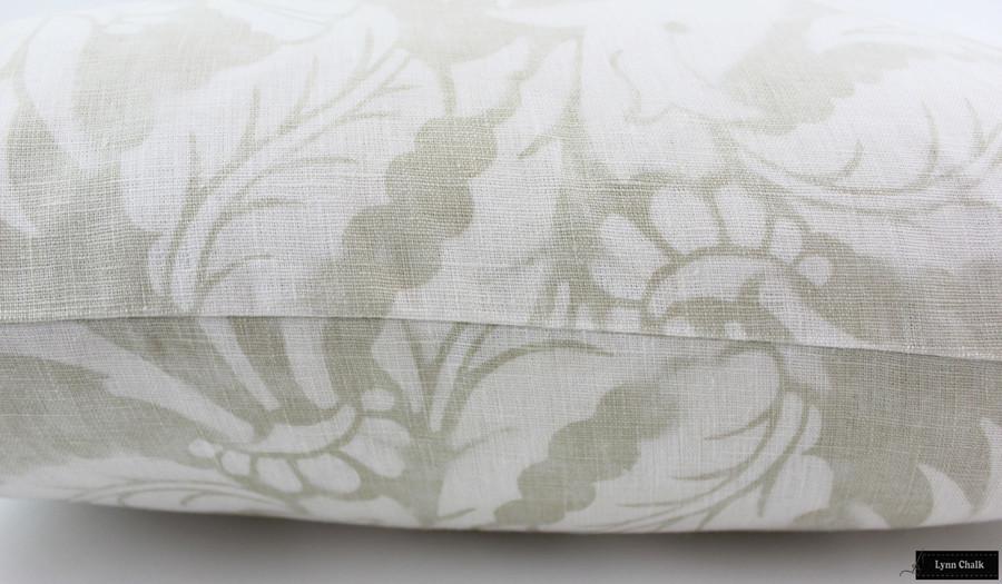 ON SALE 50% Off-Schumacher Mary McDonald Villa de Medici Greige Pillows (Both Sides-24 X 24)
