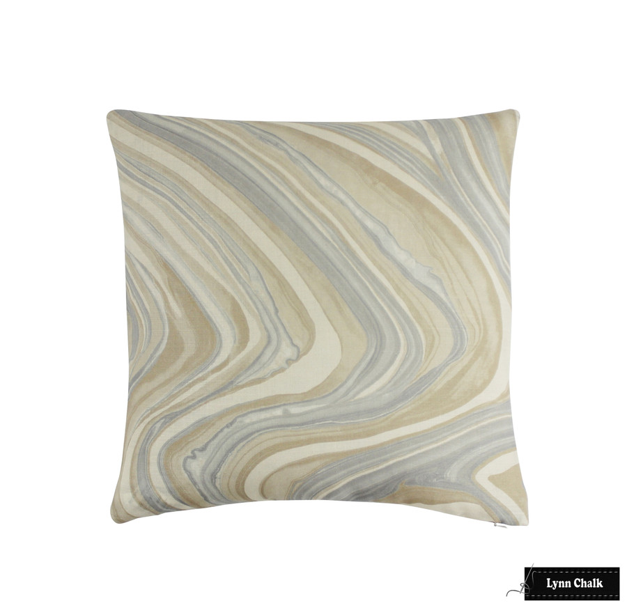 Kelly Wearstler for Lee Jofa Barcelo Pillows in Alabaster (also comes in Taupe)