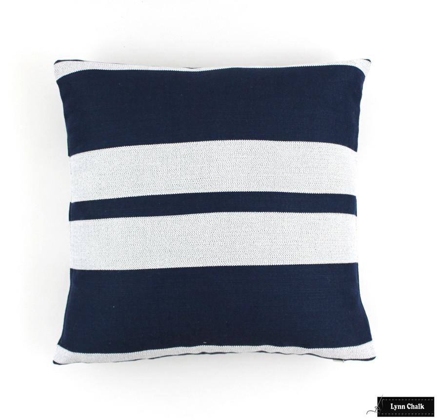 Little Big Stripe in Blue Boy (16 X 16)