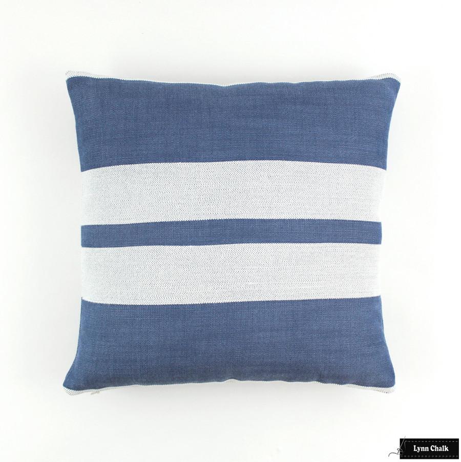 Little Big Stripe in Blueberry (16 X 16)