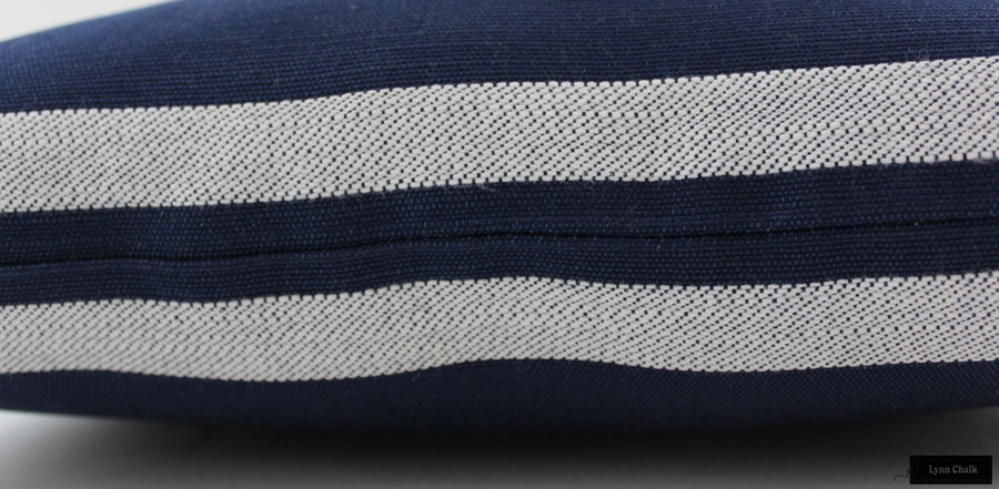 Perennials Little Big Stripe Pillows Indoor/Outdoor (Shown in Blue Boy-comes in several colors)