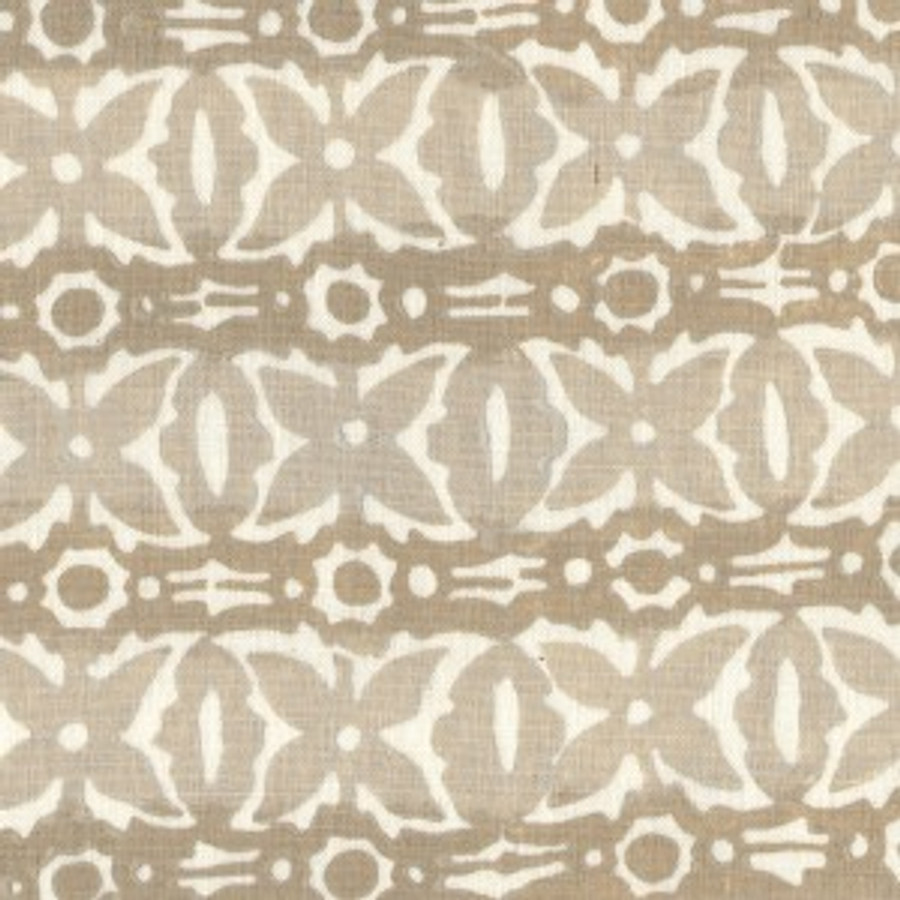 Monarch in Light Flax on Cream Linen (2 Toned Flax and Light Flax)