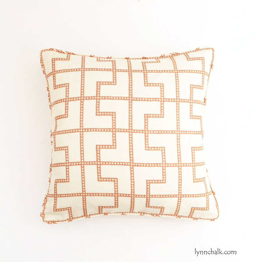 ON SALE 50% Off-Celerie Kemble/Schumacher Bleecker in Spark Pillow with Self Welting (18 X 18-Front Only) Made To Order
