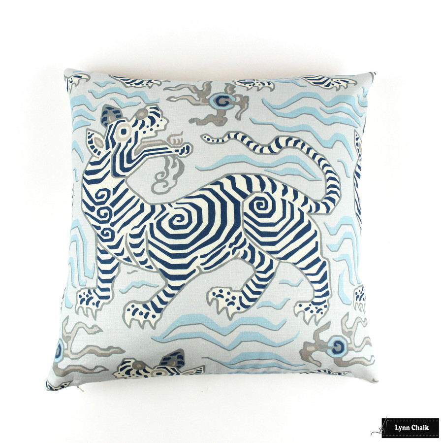 Custom Pillow in Tibet Pale Blue (22 X 22)