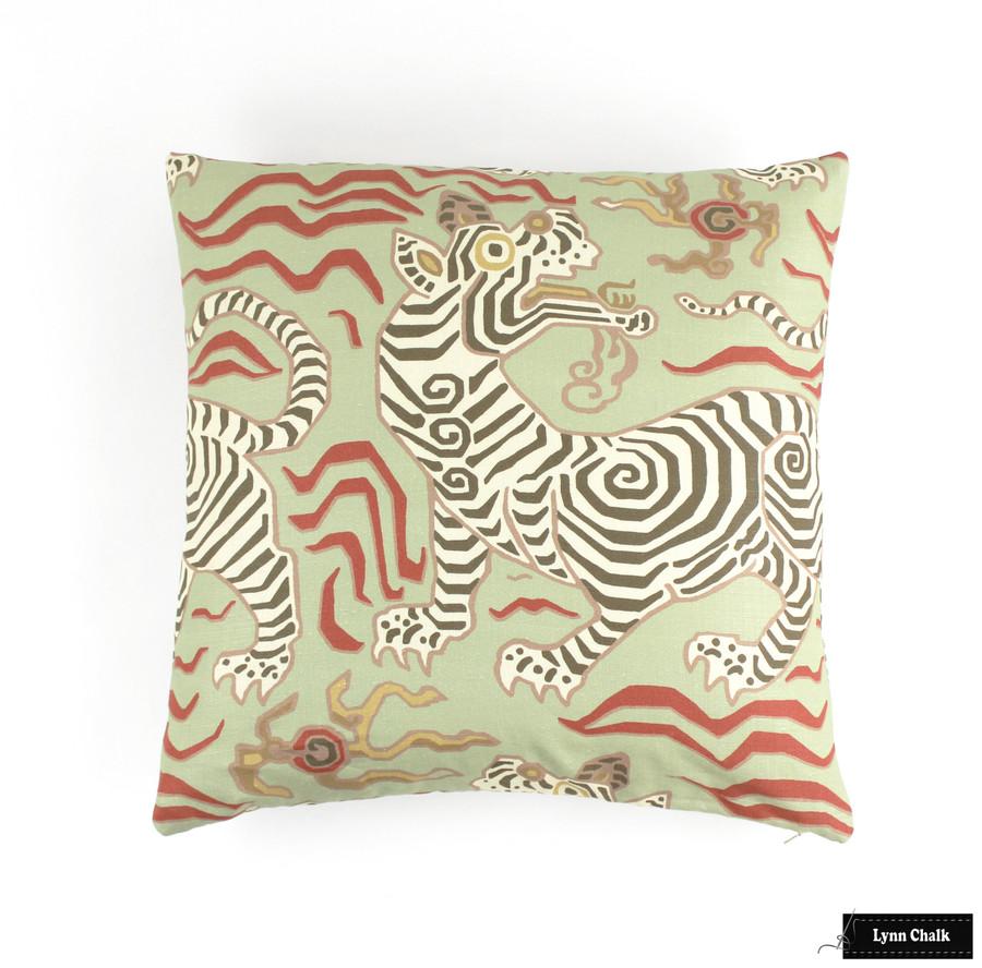 Custom Pillow in Tibet Pale Green (20 X 20)