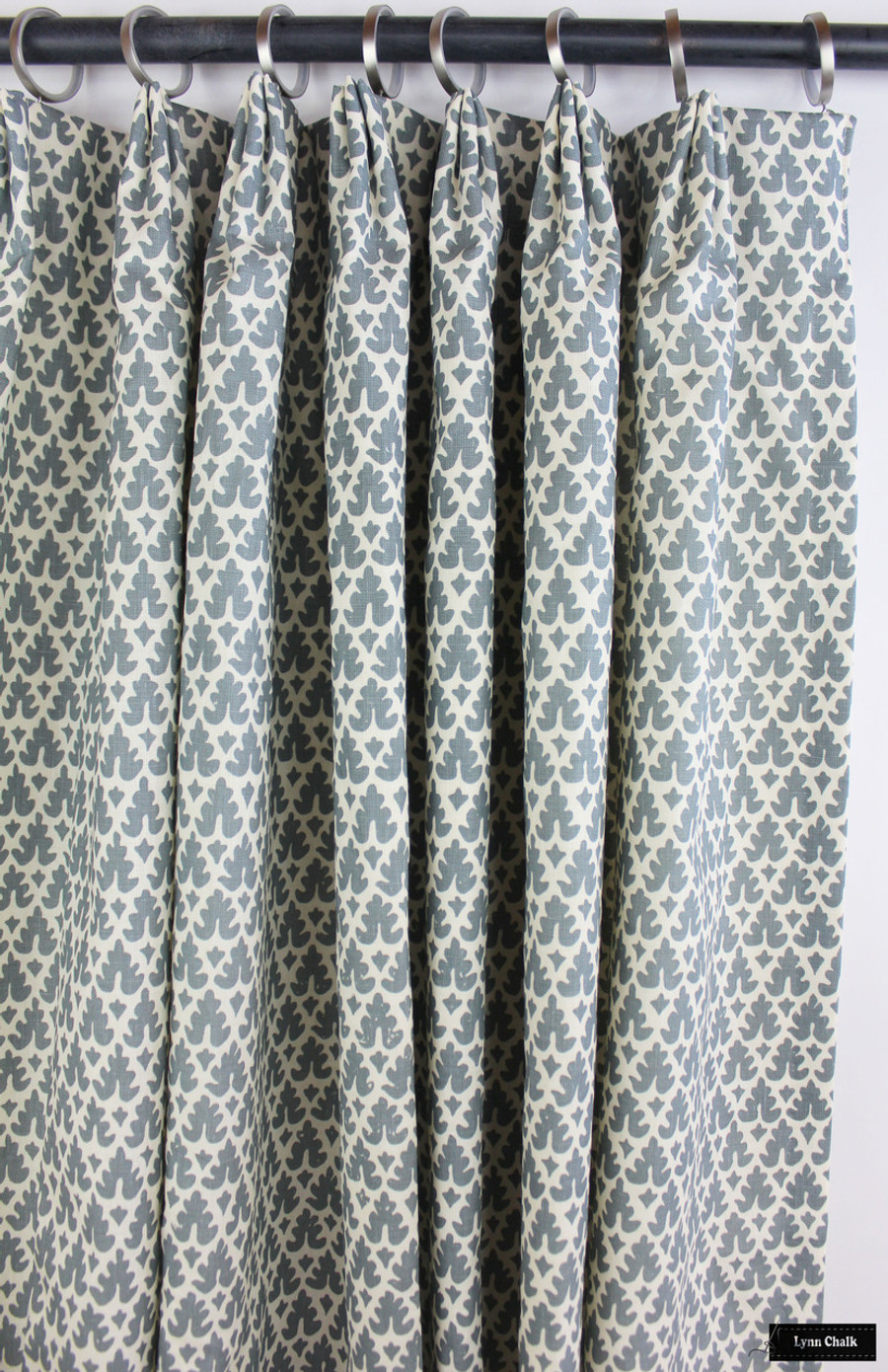 Custom Drapes in Volpi Slate Navy 304045F