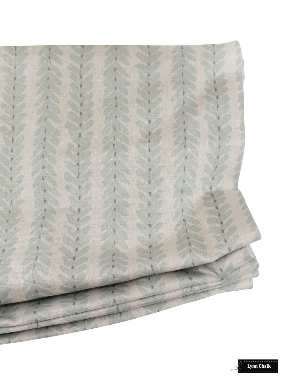 Woodperry in Aqua Relaxed Roman Shade