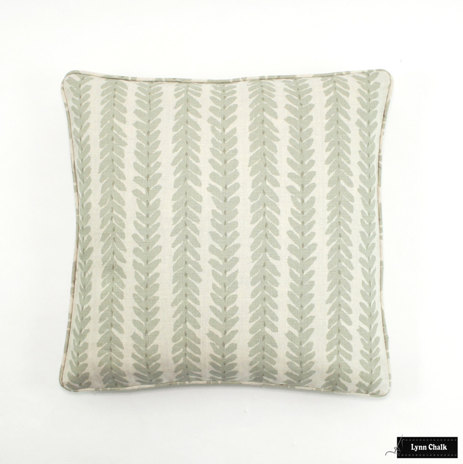 Schumacher Woodperry in Sage Pillows