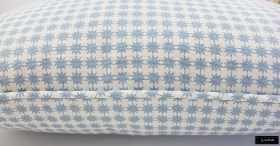 Schumacher Stella in Chambray Pillow