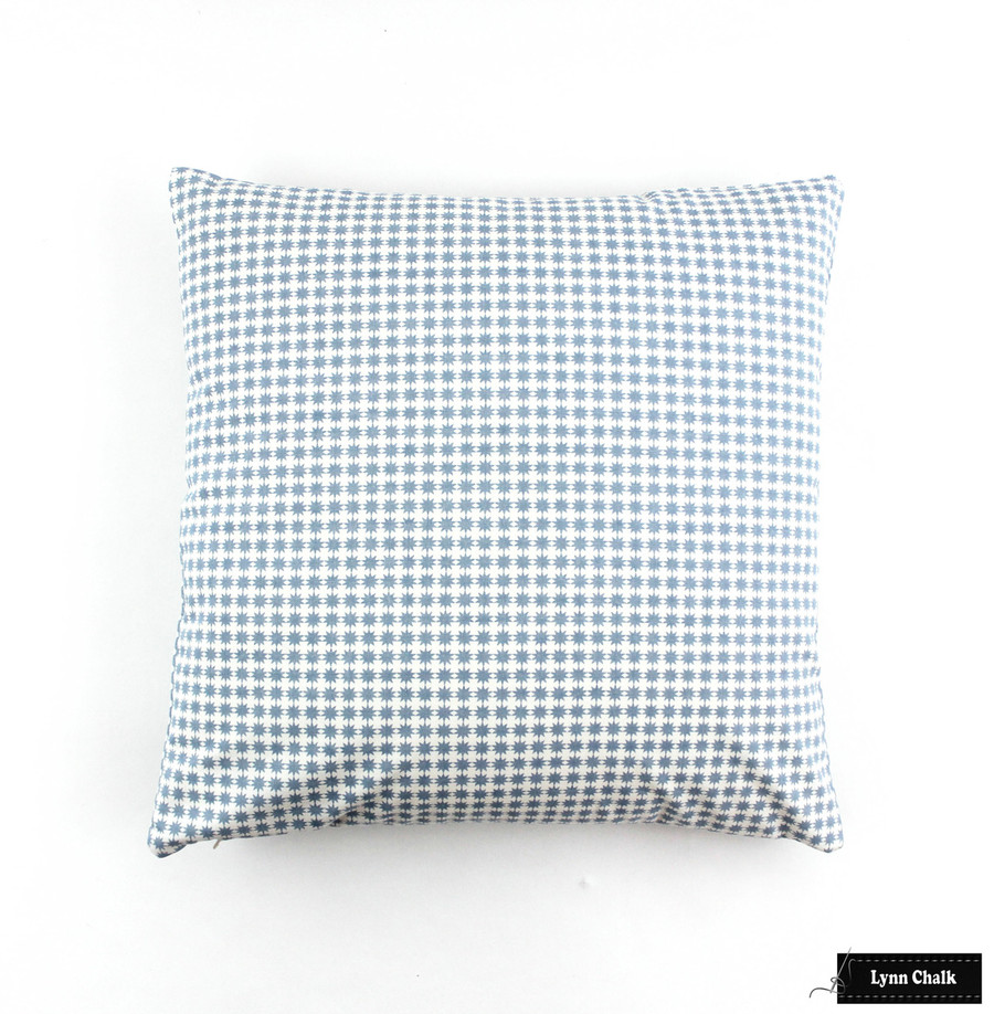Schumacher Stella in Cotton Chambray Knife Edge Pillow