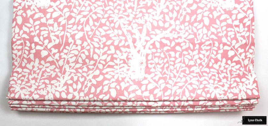 Quadrille Arbre De Matisse Reverse -Soft Pink on White Roman Shade
