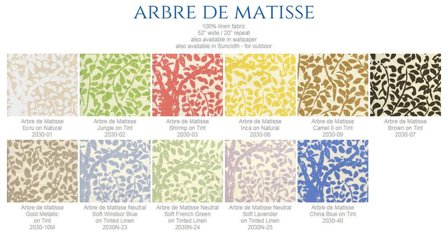 Quadrille China Seas Arbre De Matisse Knife Edge Pillows (shown in Inca Gold)