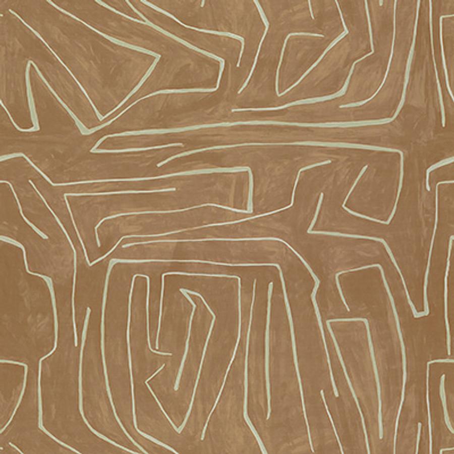 Fabric Graffito Salmon/Cream GWF-3530_117