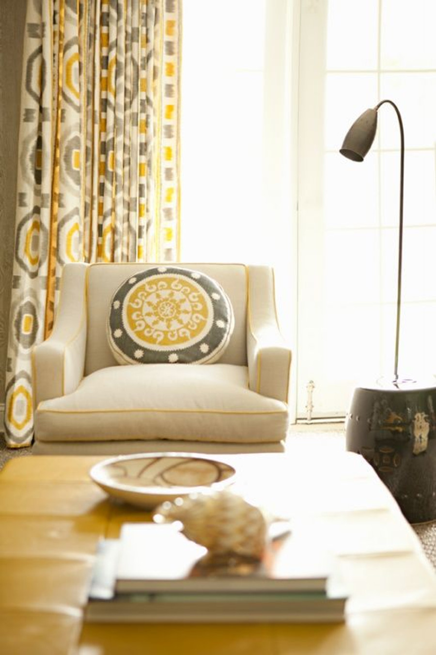 Drapes in Thom Filicia PROSPECT in Shadow by Kravet