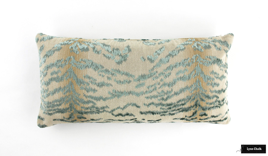 Cowtan & Tout Rajah Velvet Pillows in Blue  (Both Sides-also comes in Red, Aqua, Onyx and Beige) 2 Pillow Minimum Order