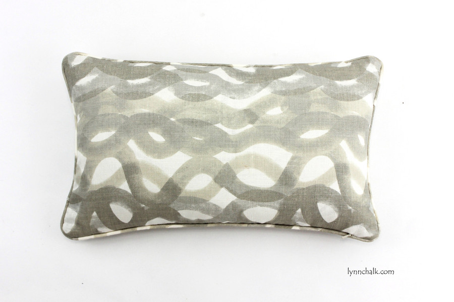 12 X 20 Pillows in Fathom Smoke with Self Welting.