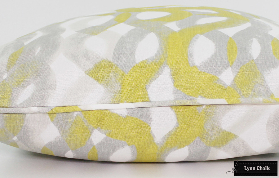 Christopher Farr Fathom Custom Pillows (shown in Lemon-comes in other colors) 2 Pillow Minimum Order
