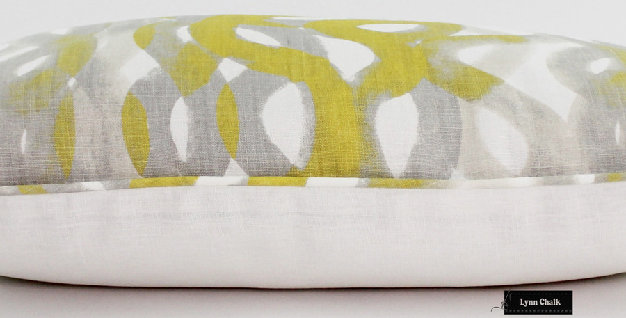 ON SALE 65% Off-Christopher Farr Fathom in Lemon Lumbar Pillows (14 X 24)