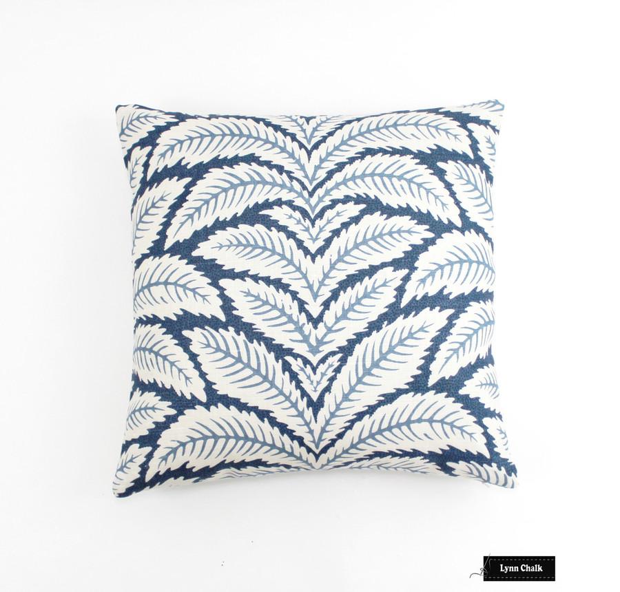 Brunschwig & Fils Talavera Linen in Indigo Pillows (20 X 20)