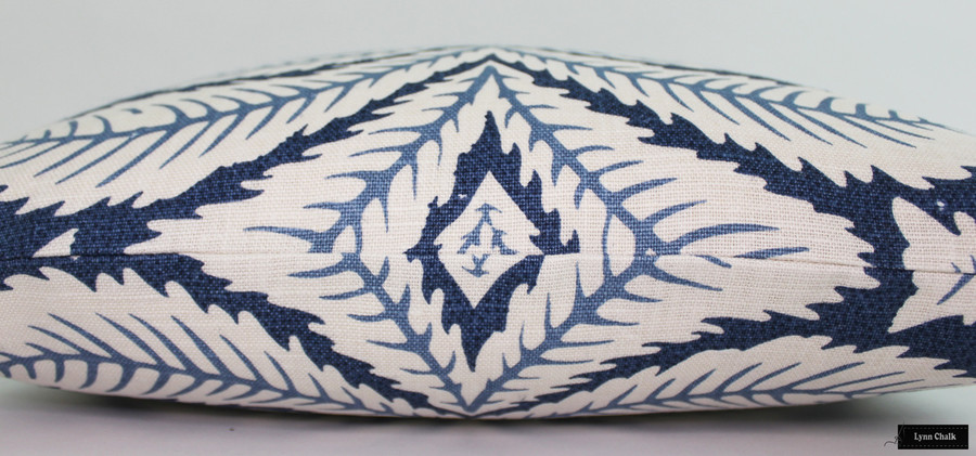 Brunschwig & Fils/Lee Jofa Talavera Custom Pillows Both Sides (shown in Indigo-comes in 4 colors)  2 Pillow Minimum Order