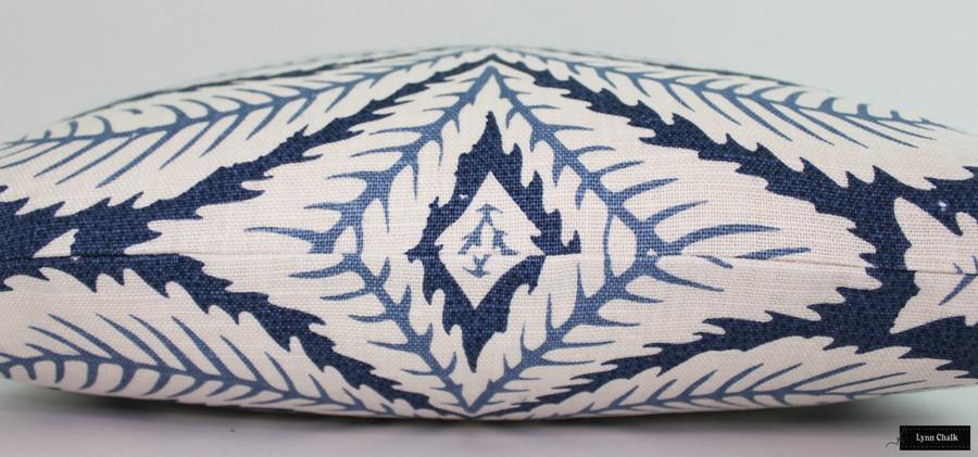 Brunschwig & Fils/Lee Jofa Talavera Custom Pillows Both Sides (shown in Indigo-comes in 4 colors)  2 Pillow Minimum Order