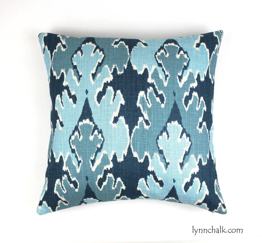ON SALE Kelly Wearstler Bengal Bazaar in Teal Pillow (Both Sides-20 X 20)