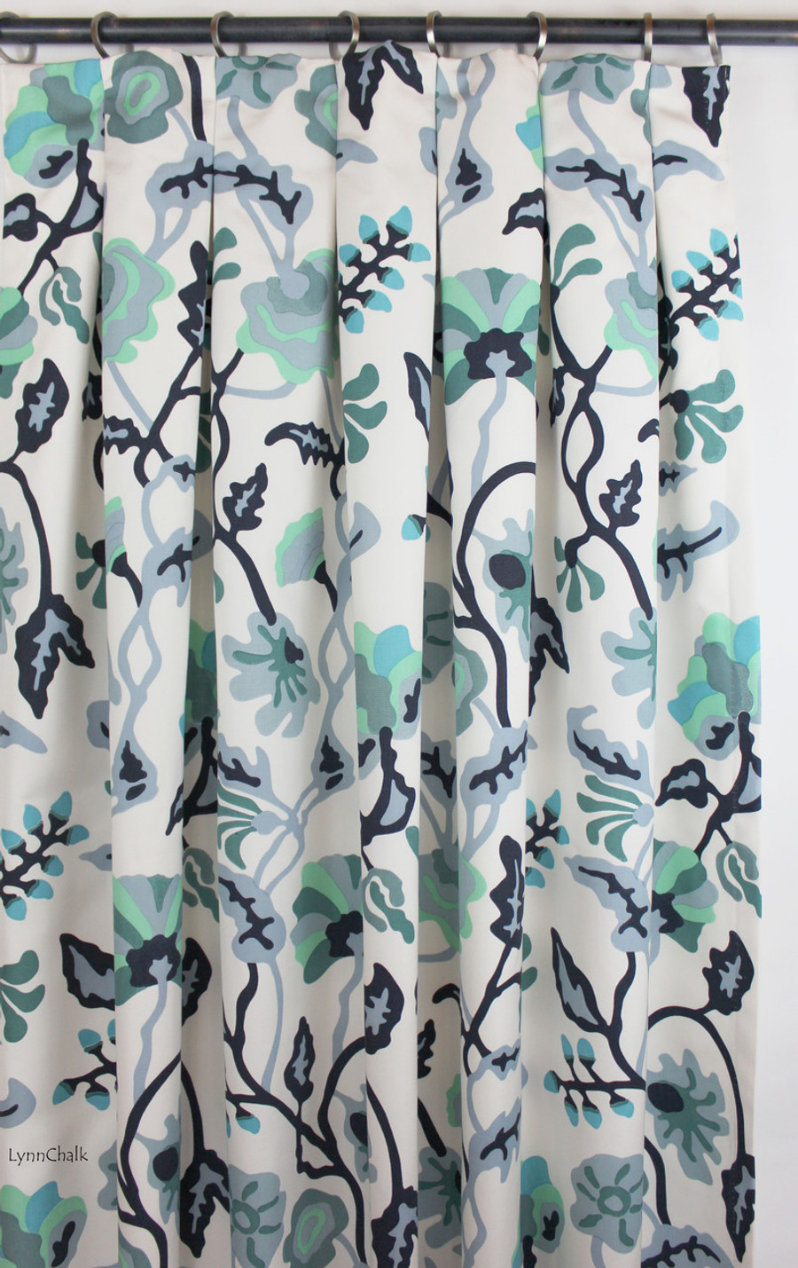 Custom Drapes with Inverted Pleats
