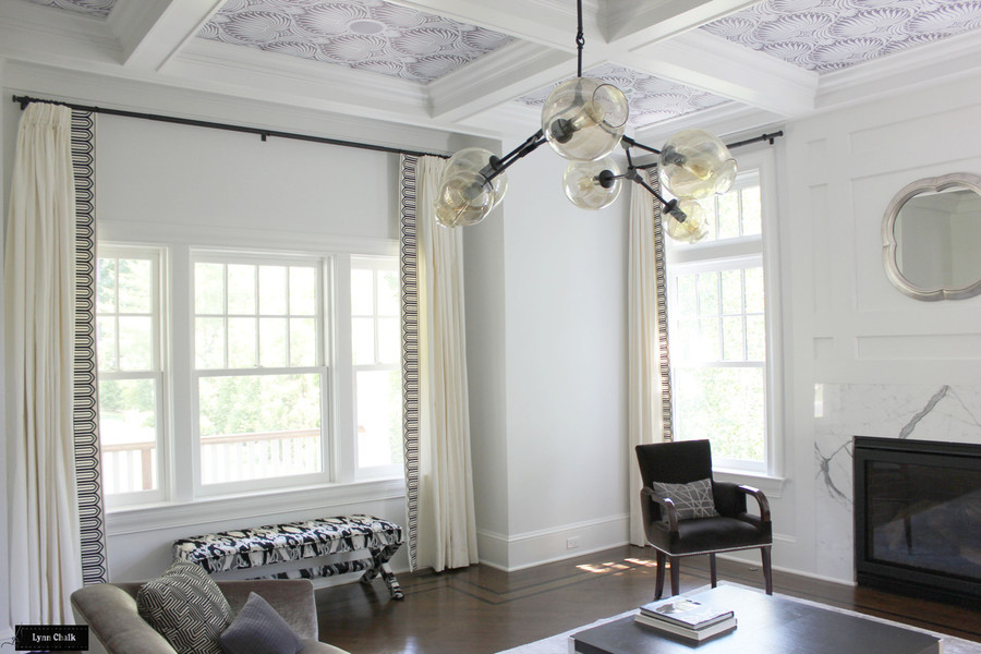 Schumacher Arches Embroidered Tape Custom Drapes (Wide-6 Inches Wide-comes in several colors)