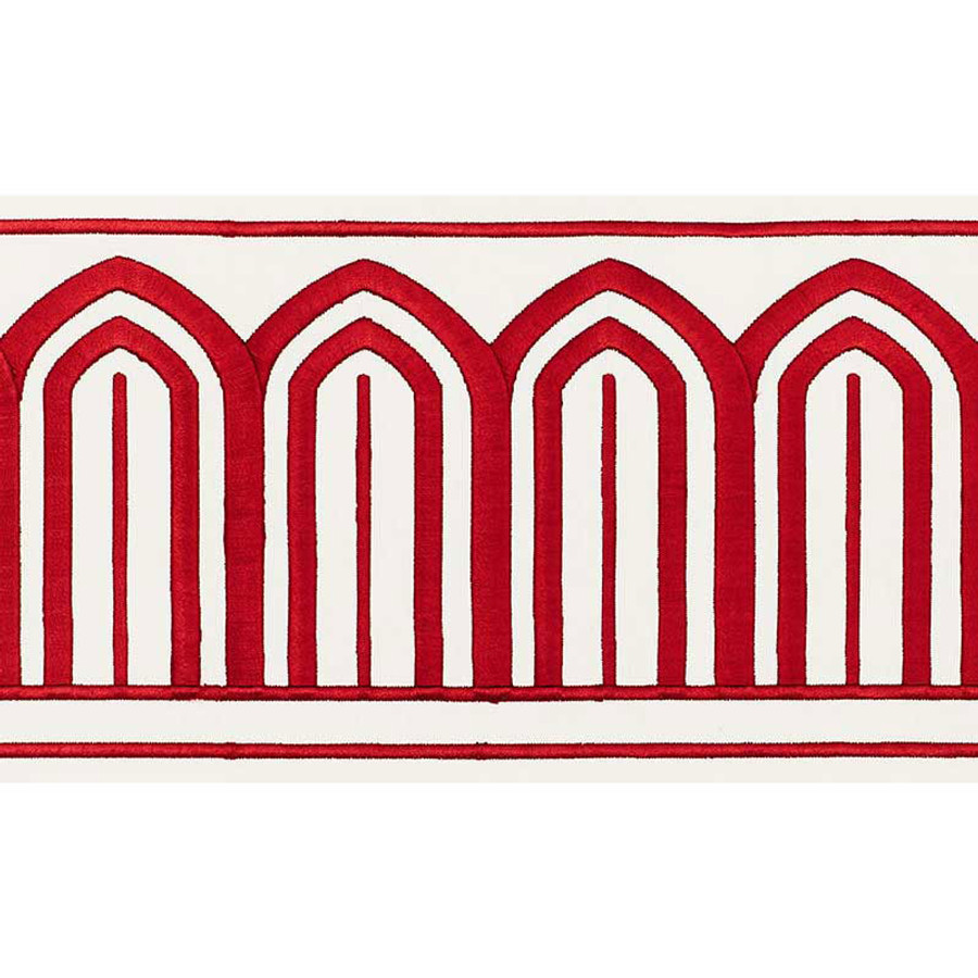 Schumacher Arches Trim Red 70771