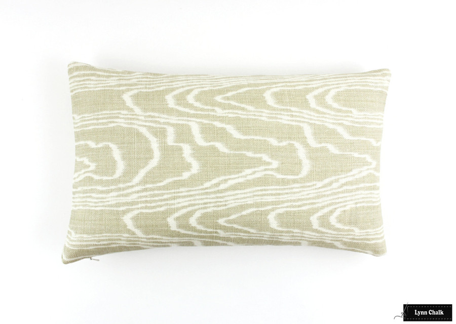 ON SALE 50% Off - Kelly Wearstler Agate Pillows in Pearl/Beige (12 X 20 Both Sides-This color is being discontinued)