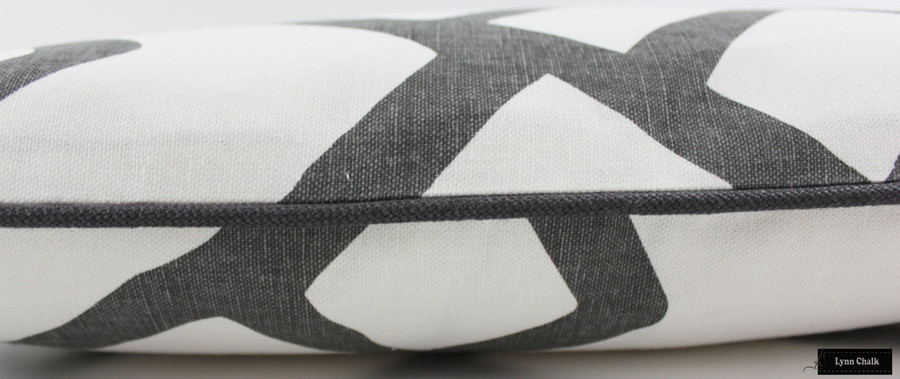 Zimba Charcoal Grey with Dark Grey Welting