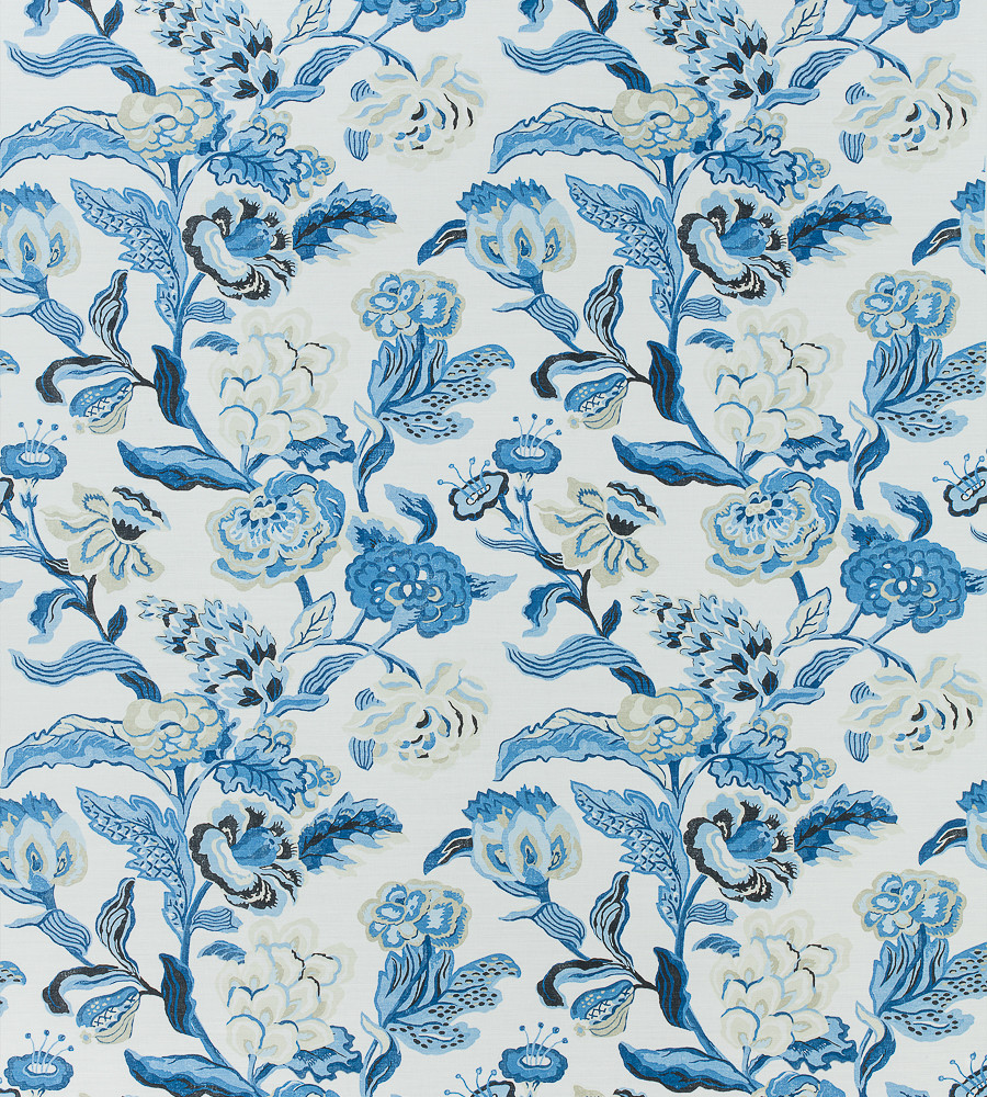 Thibaut Navesink Custom Drapes (shown in Blue and White)