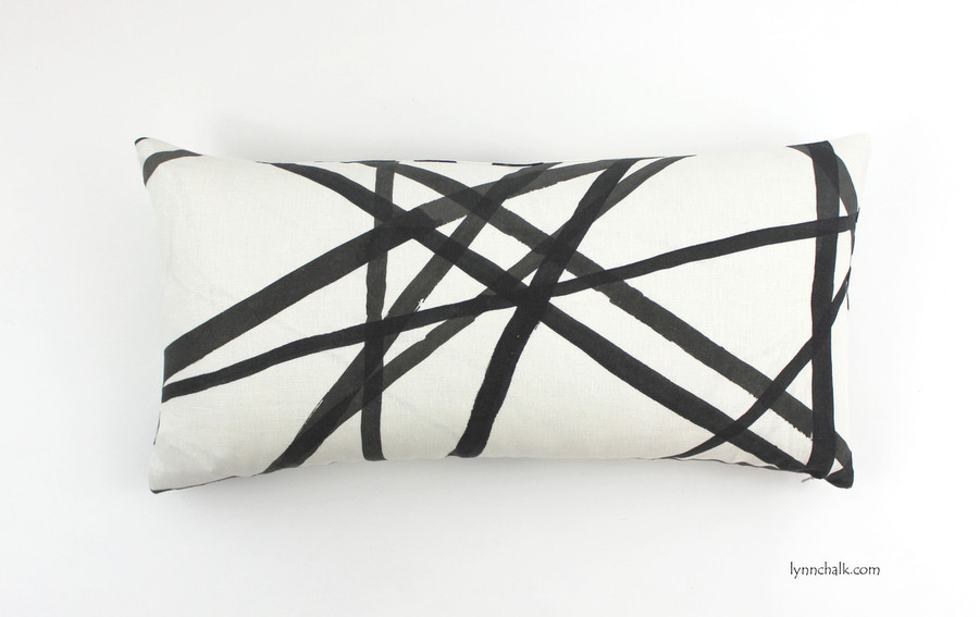 ON SALE 50% OFF Kelly Wearstler for Lee Jofa Channels Ebony/Ivory Pillow (Both Sides-14 X 24) Made To Order