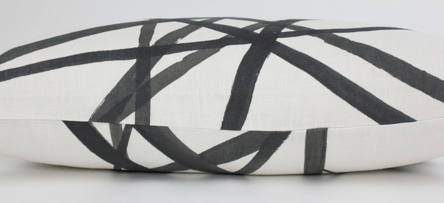 ON SALE 50% OFF Kelly Wearstler Channels Ebony/Ivory Pillows (Both Sides-18 X 18)