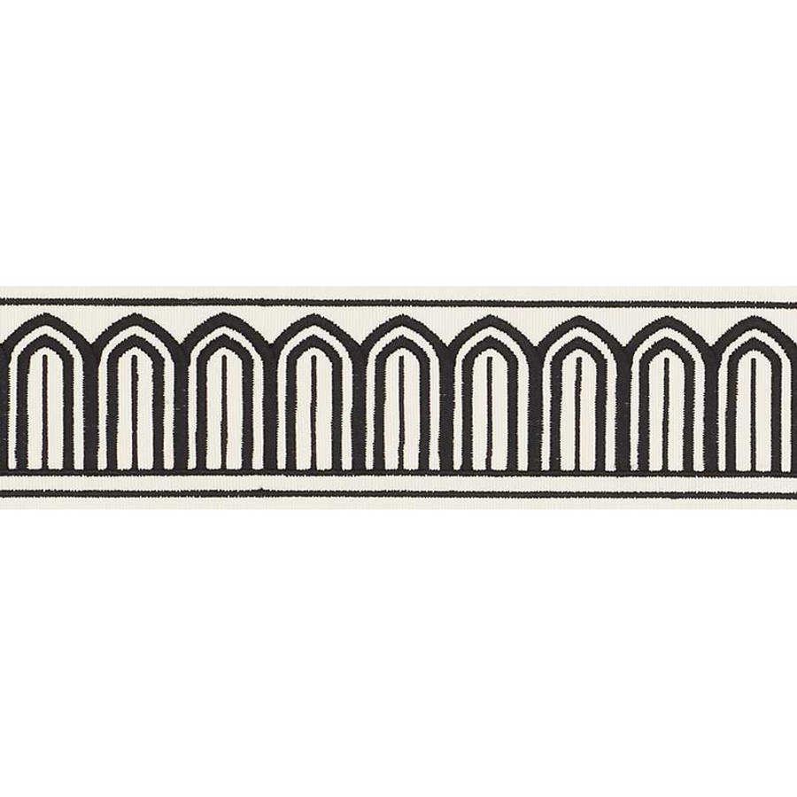 Schumacher Arches Trim Black on White 70760